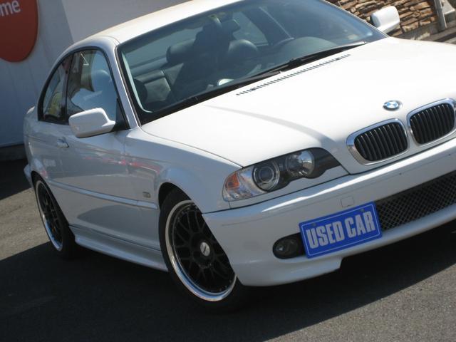 BMW 318Ci 左ハンドル MT5 革パワーシート 車高調 社外エアクリーナー リアタワーバー 17インチホイール ETC