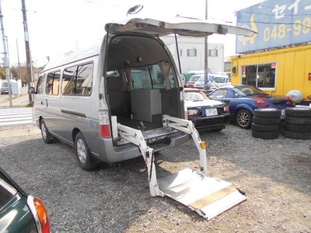 日産 GXスーパーロング ハイルーフ 昇降ゲート 車椅子2台 8人