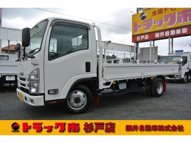 いすゞ 積載2トン 全低床標準ロング 4WD 距離無制限1年無料保証