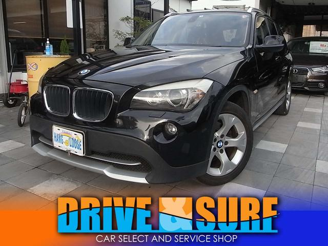 BMW X1 sDrive 18i エアコン整備済  HID スマートキー ETC ナビ バックカメラ 本革ステアリング 17AW AUX入力 オートワイパー 記録簿 禁煙車