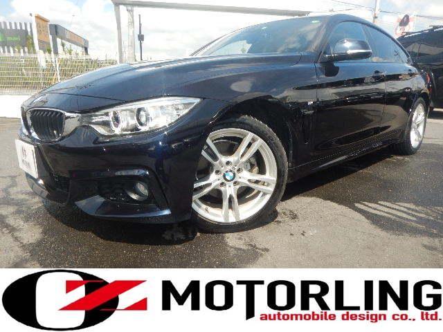 BMW 420iグランクーペ Mスポーツ ディーラー記録簿4枚有 ターボ アイドルストップ Bluetooth接続可能純正HDDナビ ワンオーナー 禁煙車