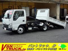 エルフトラックローダーダンプ 新明和 積載3000kg 無線リモコン付