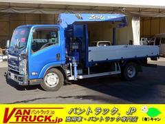 エルフトラックワイドロング 4段クレーン ラジコン 積載3750kg