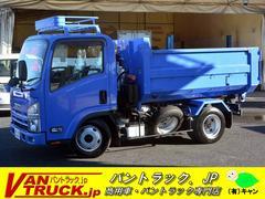 エルフトラックアームロール 新明和製 積載3000kg コンテナ付 ナビ