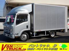 エルフトラックワイドセミロング アルミバン 垂直リフト 積載2000kg