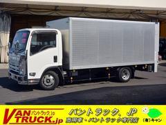 エルフトラックワイドロング アルミバン 垂直パワーゲート 積載3000kg