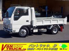エルフトラック強化ダンプ 新明和 積載3000kg  手動コボレーン