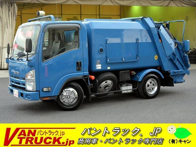 いすゞ パッカー車 富士車両 プレス式連続作動4.8立米 汚水タンク