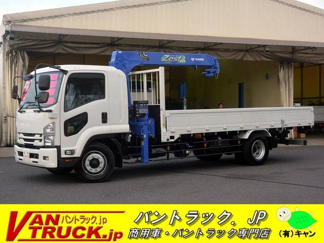 いすゞ 増トン 標準幅 ベッド 4段クレーン 7.7t積 ラジコン