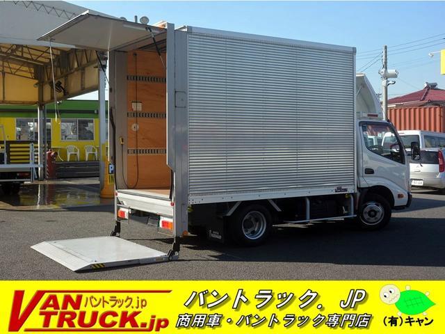 トヨタ 10尺 アルミバン 垂直パワーゲート 1.8t積 サイドドア