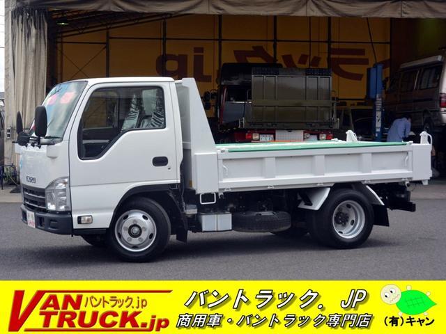 いすゞ エルフトラック 10尺 強化ダンプ 三方開 手動コボレーン 3トン 6速MT 極東製 ダンプピン 坂道発進補助 ETC チョーク 暖機スイッチ
