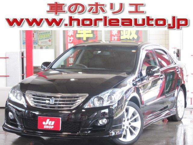 トヨタ 3.5  純正HDD地デジ18スピーカー黒茶革PCS/LKA