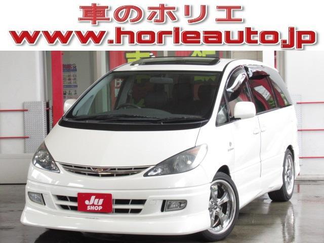 トヨタ アエラス Sエディション 社外HDDナビWサンルーフ18AW