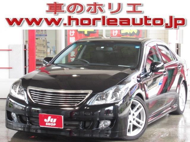 トヨタ アスリート 1オナ純正HDD地デジ黒革電動暖冷TEIN車高調