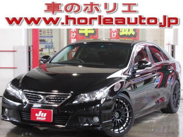 トヨタ 350S 純正HDD地デジBカメラ黒本革電動暖19AW車高調