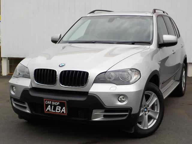 BMW X5  3.0Si 4WD サンルーフ 純正HDDナビ バックカメラ サイドカメラ 黒レザーシート HID ETC クルコン MTモード 社外18インチアルミ パワーシート シートヒーター シートエアコン