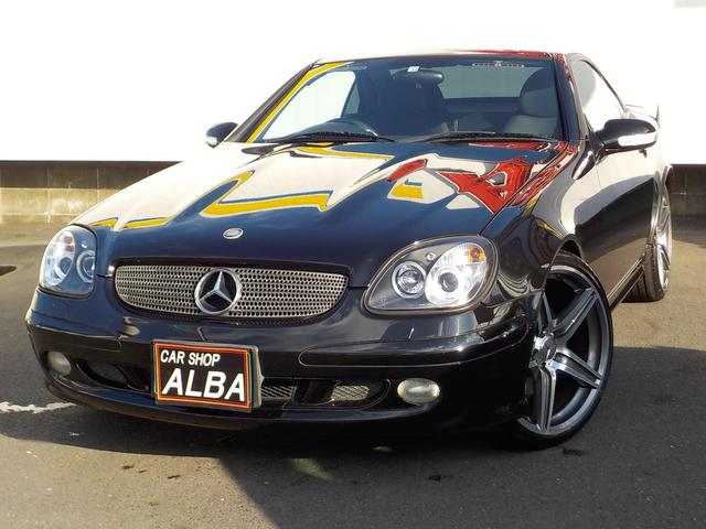 メルセデス・ベンツ SLK SLK320 オープンカー 規格外19インチアルミ 黒革シート シートヒーター パワーシート ETC フルセグ CD DVD 電格ミラー ウィンカーミラー コンビステアリング キーレス フォグ MTモード クルコン