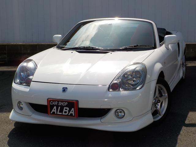 トヨタ Sエディション 6速マニュアル オープンカー 純正エアロ 純正アルミ 革巻きステアリング フォグライト ABS Wエアバッグ CD DVD再生