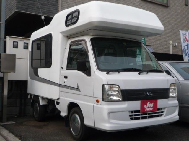 スバル サンバートラック TC 4ナンバー登録車 4WD コラムオートマ キャンピングボックス