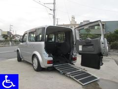 キューブ 福祉車両 スローパー 車椅子移動車 タイミングチェーン式(日産)