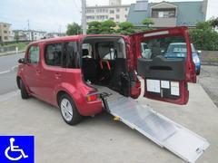 キューブ福祉車両スローパー 車椅子移動車 リアシート付 Tチェーン車