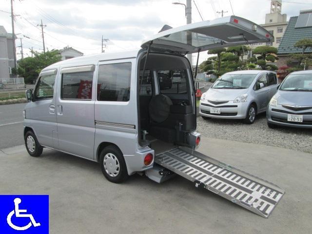 三菱 福祉車両 スローパー 車椅子移動車 電動ウインチ ヒーター付
