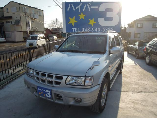 いすゞ ウィザード LS 4WD ルーフレール ETC タイヤ4本交換 純正アルミ キーレス タイミングベルト交換 社外CDデッキ AUX USB ドアバイザー
