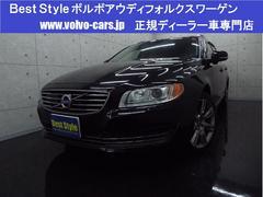 ボルボ V70T6AWDポールスターP 黒革 ナビ サンR 2014モデル