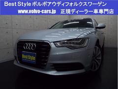 アウディ A6ハイブリッドベースグレード 黒革 サンR 純MMI 2013モデル