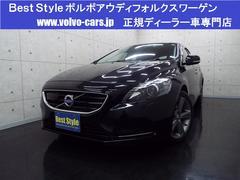 ボルボ V40T4SEセーフティP 黒革 純HDD 1オナ 2013モデル