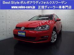 VW ゴルフヴァリアントTSIコンフォートLブルーM ディスプロ 1オナ 2014M