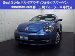 VW ザ・ビートルデザインレザーパッケージ 黒革 純正ナビ 1オナ 2016M