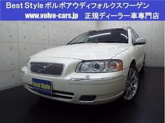 ボルボ V70ホワイトパールED300台限定車 黒革 サンR 07モデル