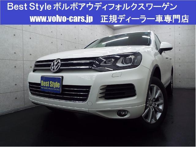 フォルクスワーゲン V6 4WDブルーM 黒革 純正ナビ カメラ 2012モデル