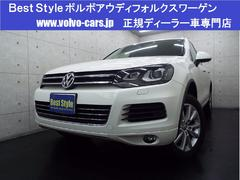 VW トゥアレグV6 4WDブルーM 黒革 純正ナビ カメラ 2012モデル