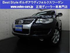 VW トゥアレグV6 4WD 黒革 HDD Bカメラ スマート 08モデル