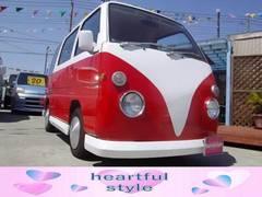 サンバーバンバス仕様 オートマ車 シートカバー 内装赤白カスタム