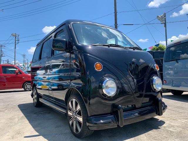 スズキ エブリイワゴン ジョイポップターボ BLACKブラックバス仕様