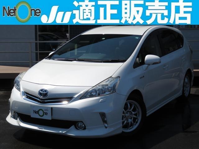 トヨタ G SDナビ Bluetooth バックカメラ ETC フリップダウンモニター エンジンスターター オートクルーズ ヘッドライトウォッシャー i-stop LEDライト モデリスタフルエアロ 純16AW