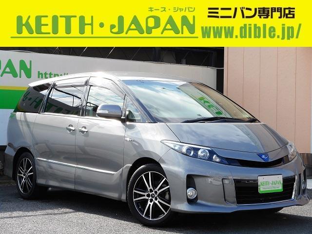 トヨタ アエラス ローダウン 純正HDDナビ 両側電動ドア