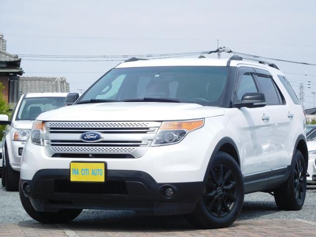 フォード エクスプローラー XLT 全国保証 禁煙車 フロント&サイド&バックカメラ パワーシート HIDヘッドライト ETC ナビ ハンズフリー USB入力 ブラック18インチアルミホイール