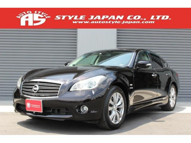 日産 VIPパッケージ 特別カラーGAC 黒革 HDDナビ 1オナ
