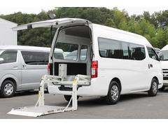 NV350キャラバンバンスーパーロングDXハイルーフ 和光工業350kg対応リフト付