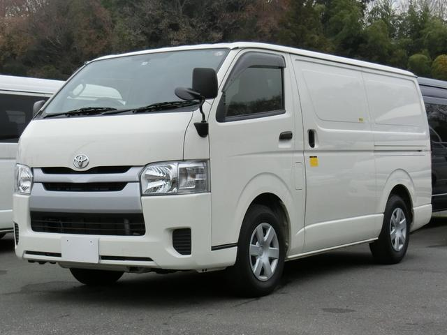 トヨタ ハイエースバン 中温冷凍バン 最低設定温度−7℃ 8ナンバー登録 冷蔵冷凍車