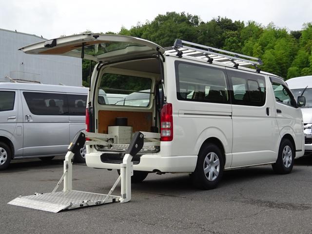 トヨタ ロングDX パワーリフト付 最大昇降能力300kg 荷室フロア板張り ルーフラック ウィンドウガード 純正ナビ バックカメラ ETC