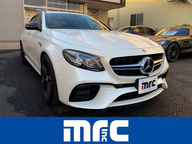 メルセデスAMG E63 4マチック+ E63 4マチックプラス  ワンオーナー車 ダイヤモンドホワイト 360