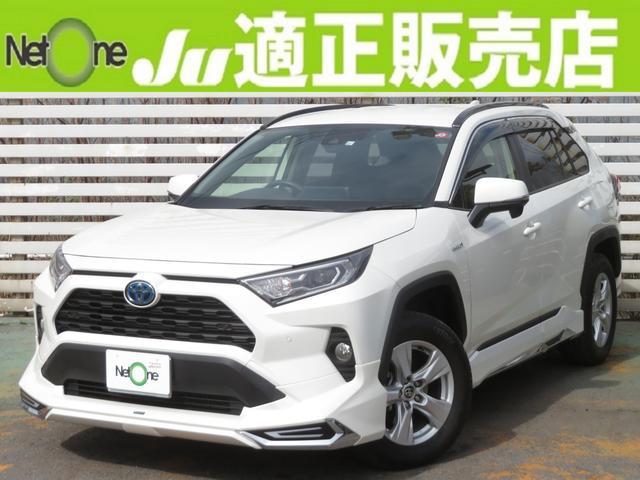 トヨタ RAV4 ハイブリッドX モデリスタTSS純ナビBモニSキーLEDリア修正