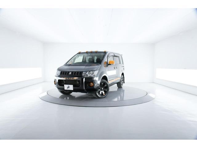 三菱 デリカD:5 アクティブギア ワンオーナー車 両側電動ドア SDナビ