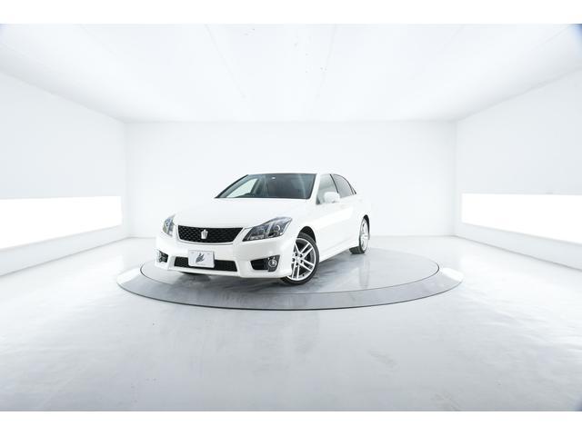 トヨタ クラウン 2.5アスリート プレミアムエディション 特別仕様車 茶本革 純正HDDナビ HID
