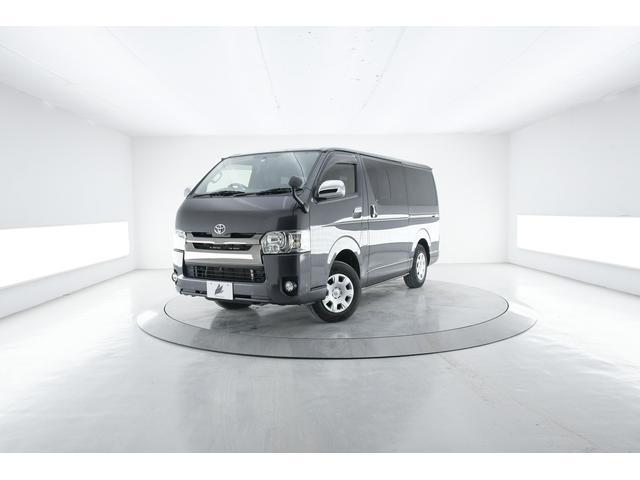 トヨタ ハイエースバン スーパーGL ダークプライム 4WD ハーフレザー 純正ナビ LED AC100V電源